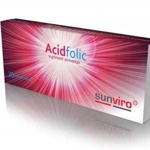 Acid folic 20cpr  sun viro 1